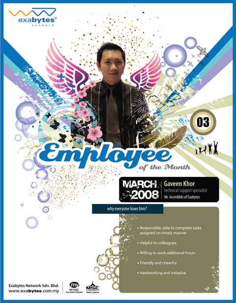 march 2008 employee of the month exabytes web hosting blog