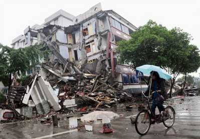 aftermath of the earthquake disaster in China