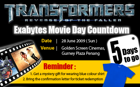 Exabytes Movie Day Countdown