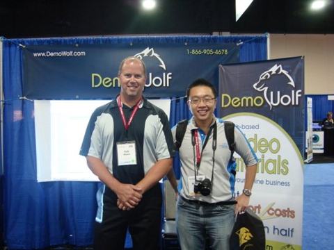 demowolf founder together with exabytes founder at HostingCon 2009