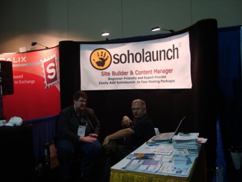 soholaunch booth HostingCon 2009