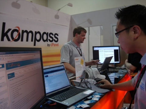 HostingCon 2009 event photo kompass cPanel