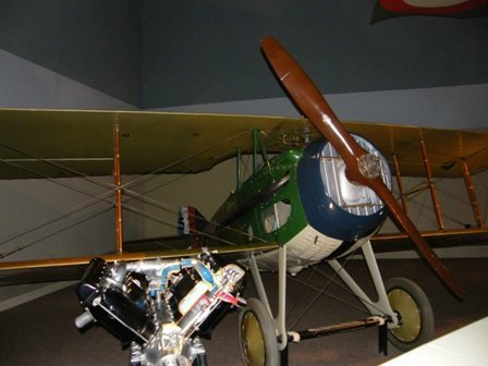 old aeroplane at museum