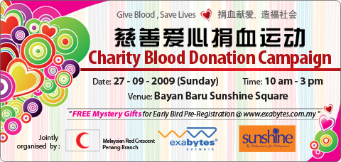 Exabytes blood donation campaign