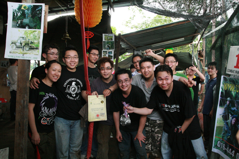 Exabytes team building paintball group photo