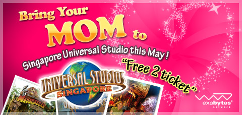 Bring your mom to Singapore Universal Studio
