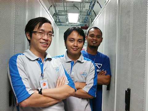 Our Three Musketeers in our data center – Albert, Yazid and Khuzaini
