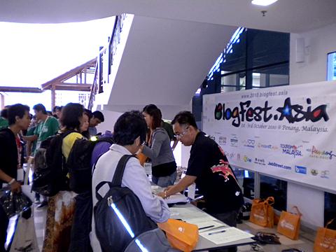Registration and goodies bag giveaways