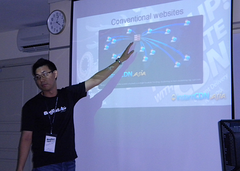 The workshop conducted by Arren Tan from Exabytes on 'Speed Up Your Blog With Content Delivery Network (CDN)'.