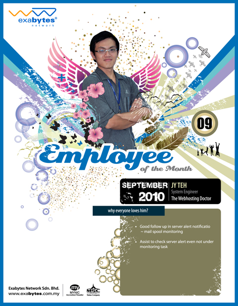 Employee of the month - September 2010