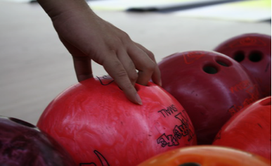 right hand ready to hold a bowling ball