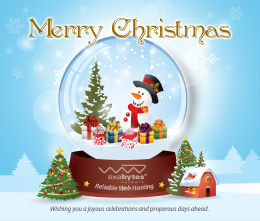 Warmest Christmas Greetings to All Valued Customers - Exabytes Web ...