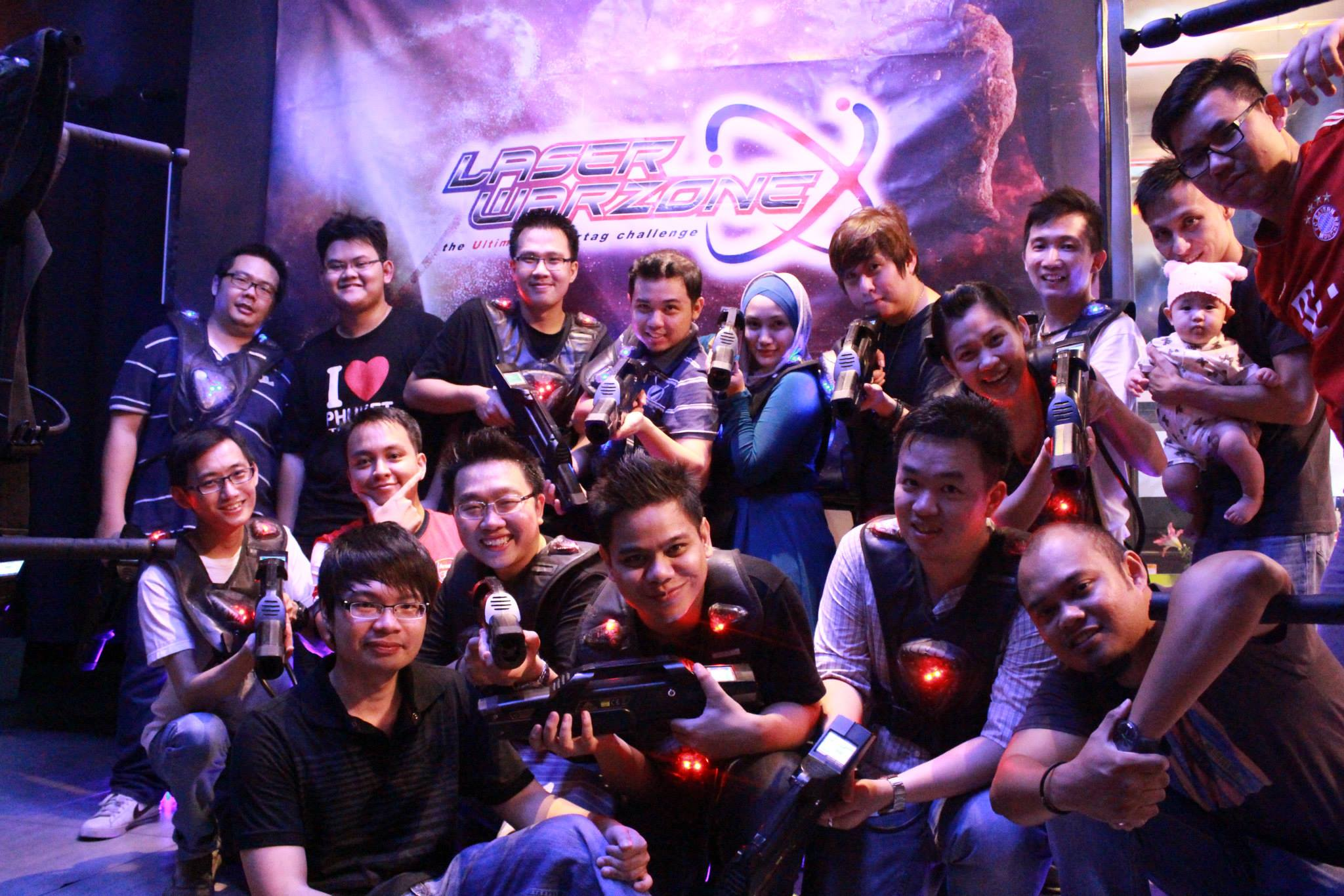 Exabytes KL Team Building @ Laser Warzone, IOI Mall group photo
