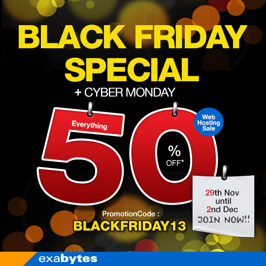 Black Friday Special + Cyber Monday