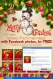 Merry Christmas Facebook banner greeting cards - Exabytes