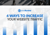 4 ways to increase your website traffic banner