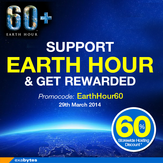 Earth Hour Sale