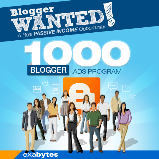 Exabytes 1000 blogger ads program