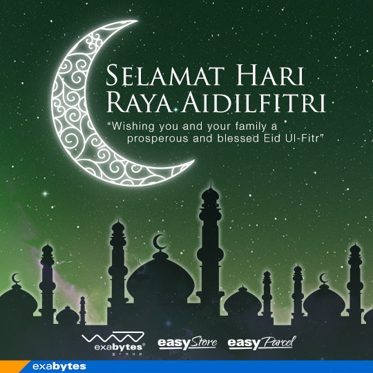 Hari Raya Aidilfitri Greetings From Exabytes