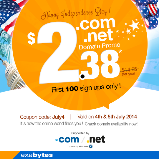 US Independence Day Domain Sale