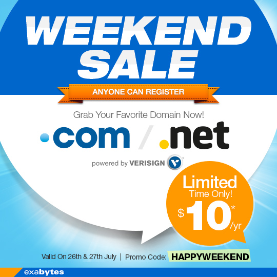 domain name Weekend sale