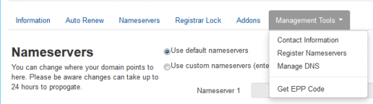 Nameservers Management Tools