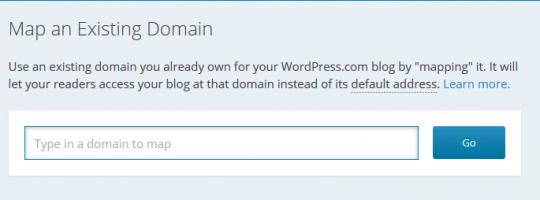 Map an Existing domain wordpress