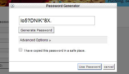 password generator in cPanel