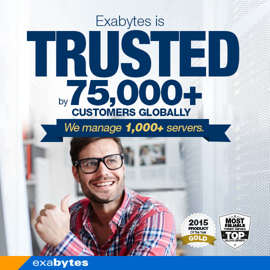 Exabytes is trusted by 75000+ customer globally