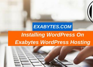 Installing WordPress On Exabytes WordPress Hosting (1)
