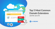 top 5 most common domain extension