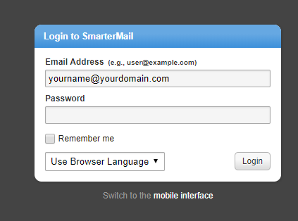 email hosting login