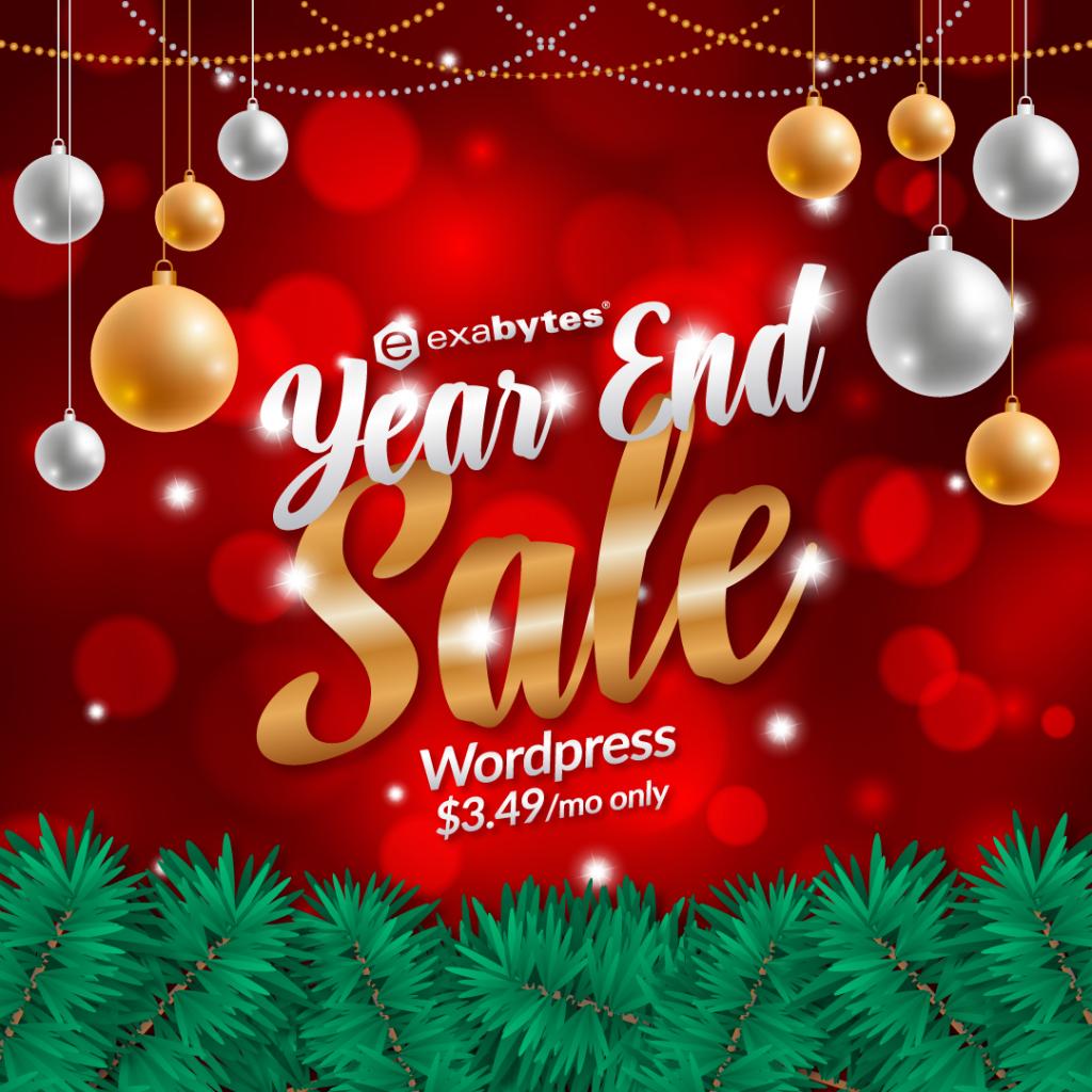 year end sale wordpress hosting sale