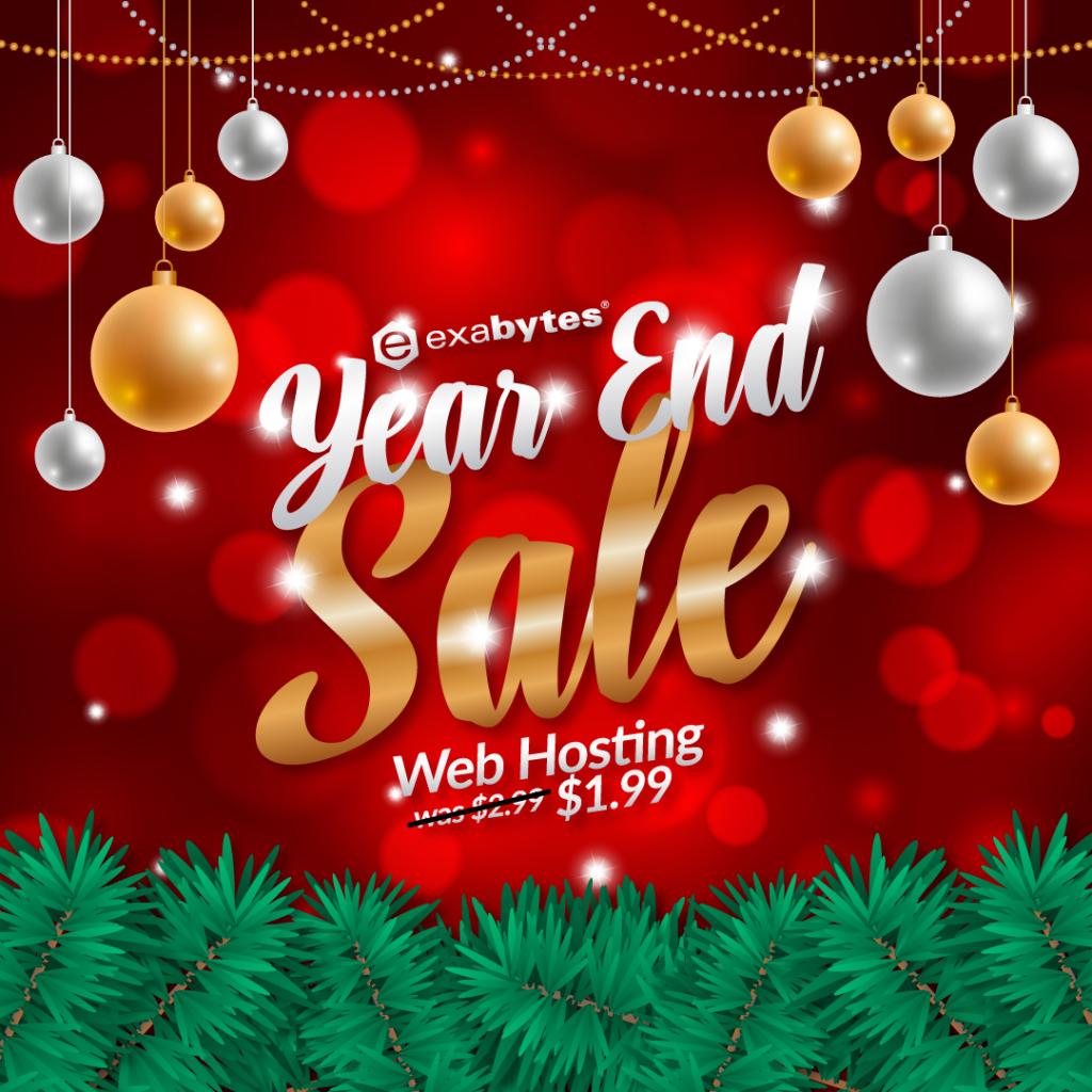 year end sale web hosting sale