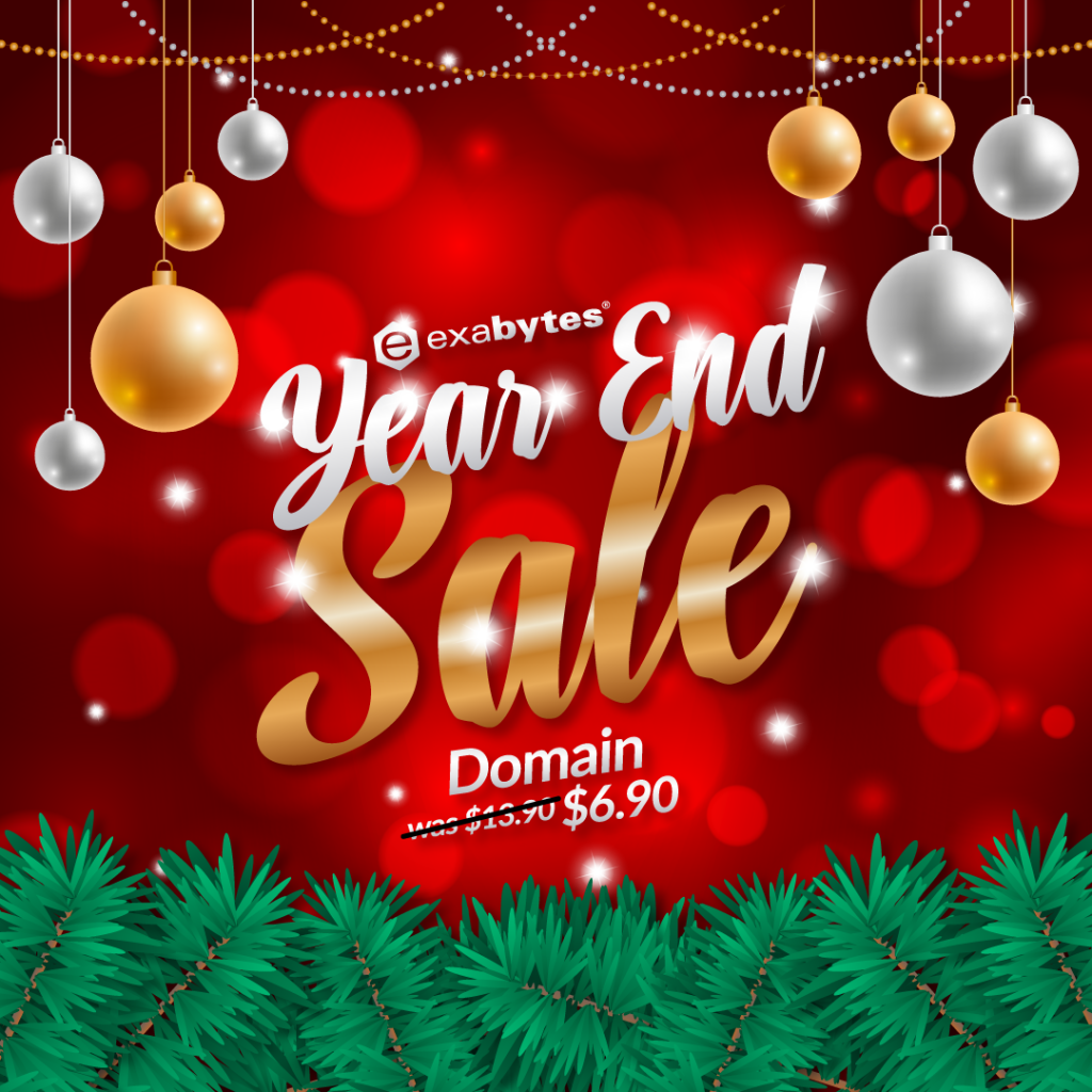 Year End Sale domain registration $6.90