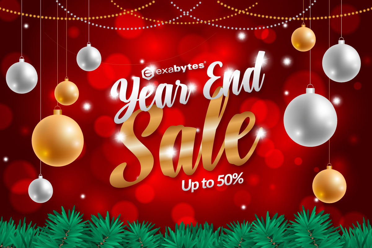 Exabytes Year End Sale up to 50%