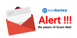cPanel and WHM phising email alert