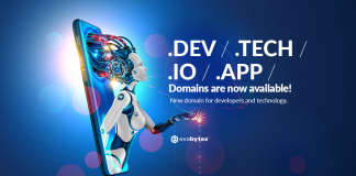 .dev .io .tech .app new domain extension