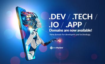 .dev .io .tech .app new domain extension