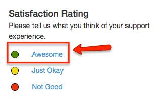 satisfaction rating screenshot