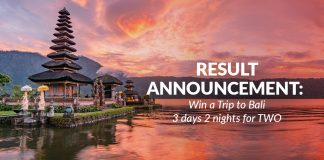 bali reward - winner announcement