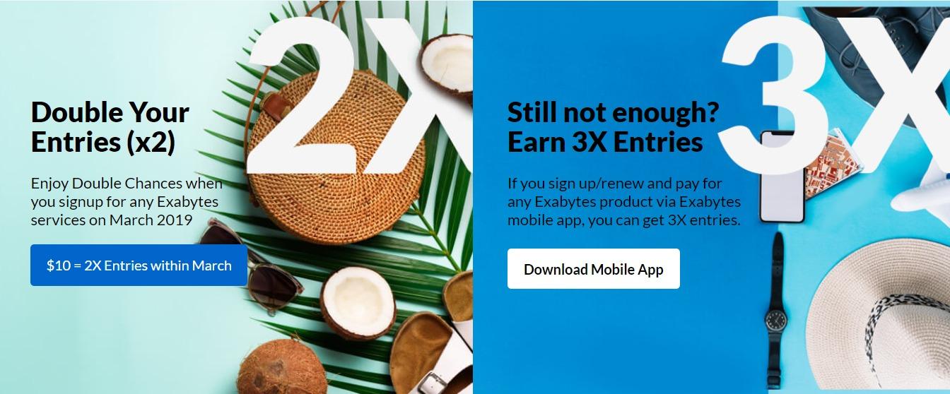 bali reward - extra entry