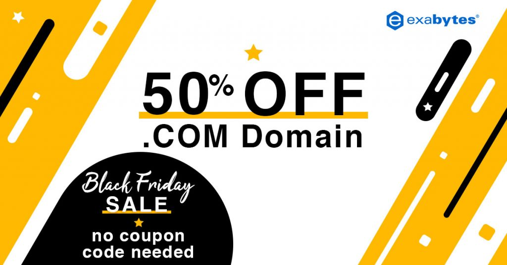 black friday sale - domain 50% off