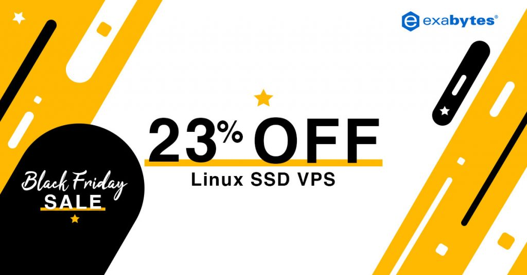 black friday sale - linux ssd vps 23% off