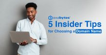 5 insider tips for choosing a domain name