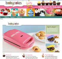 Website Theme for Cake House